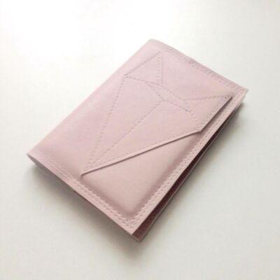 Textilbőr irattartó - rózsaszín rókás