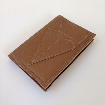 Textilbőr irattartó - bronz rókás