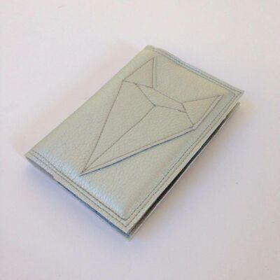 Textilbőr irattartó - ezüst rókás
