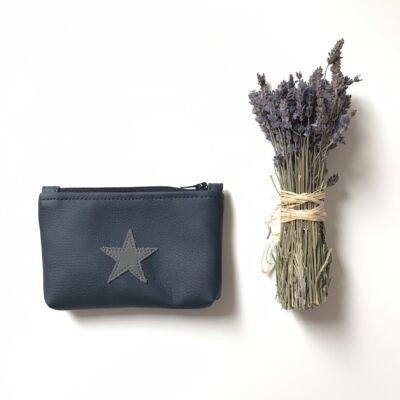 MINI neszeszer - kék szürke csillag