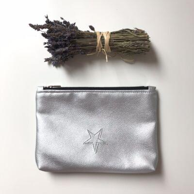 ESKA textilbőr neszeszer - ezüst csillag